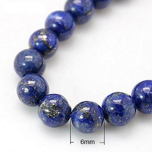 lapis-lazuli korálek - 2ks