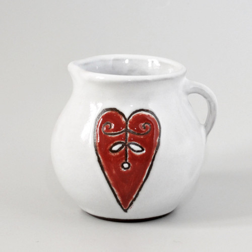 Hrneček srdce červené