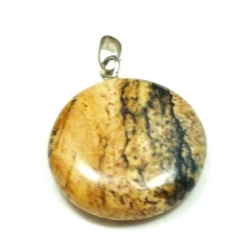 přívěsek kulatý - minerál č.7, průměr 21 mm,