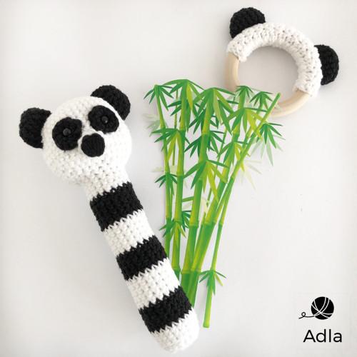 SADA  Panda - chrastítko + kousátko