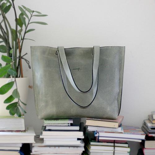 Kožená kabelka Lea (šedá)