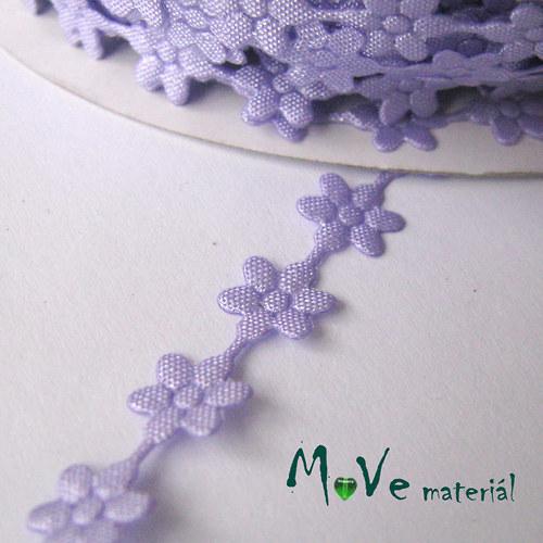 Aplikace květinky fialová - šíře 7mm, 1m