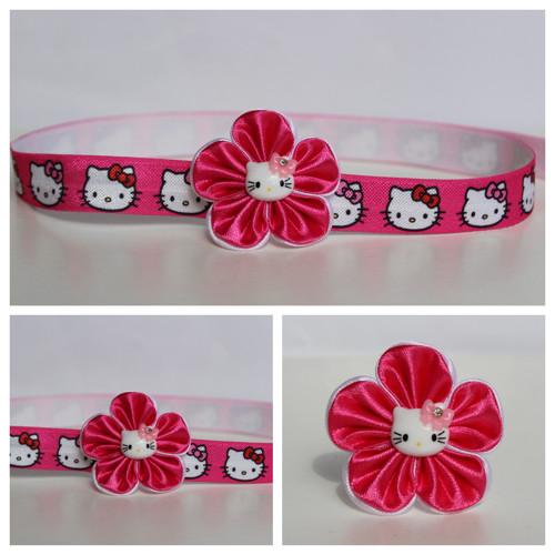 Čelenka pruženka - květ s Hello Kitty