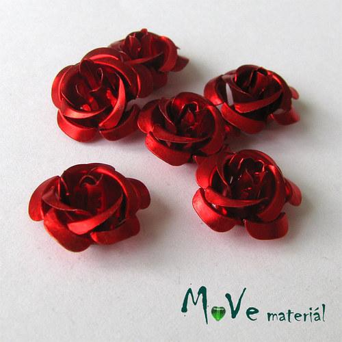 Korálek růžička 15mm, 6ks červená