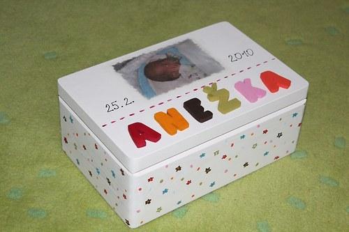Krabice na mimi VZPOMÍNKY s VLASTNÍ fotografií