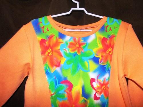 tričko meruňka, vel 92-116,dl.rukáv