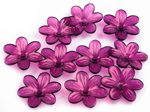květ fialovorůžový Ø26mm, 2ks