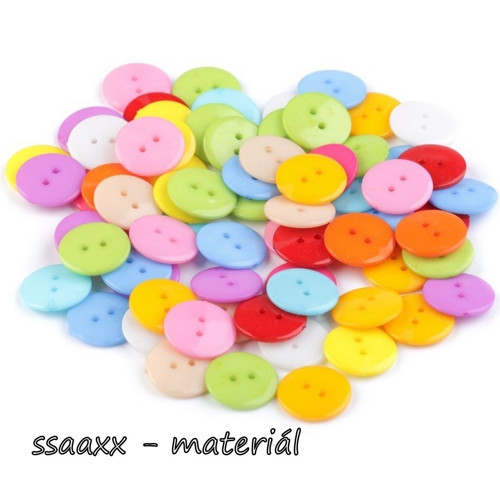 Plastový knoflík ~ 18 mm ~ 10ks ~ mix (II. jakost)