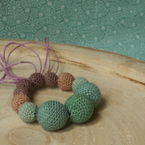 Korále šalvějové * náramek i náhrdelník