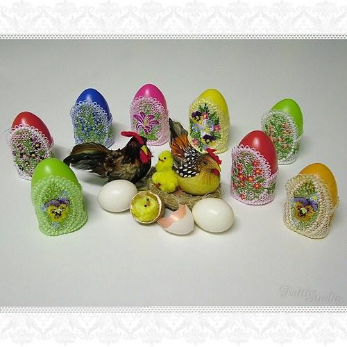 Vyšívací vzory - Krajkové stojánky na vajíčka 3