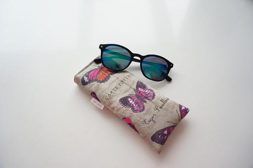 Obal na brýle - motýli