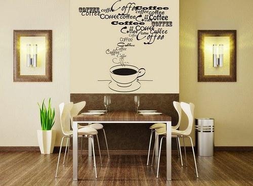 Káva 55x45cm Samolepíci dekorace na zeď 3099n