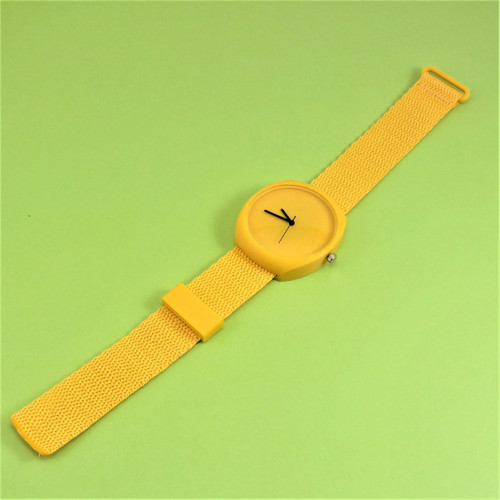 Designové hodinky duha yellow