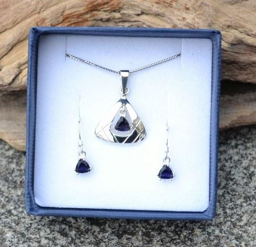 OCELLA, sada stříbrných šperků, ijolit stříbro 925