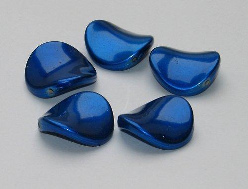 Akrylová prohnutá placka, modrá, 1ks