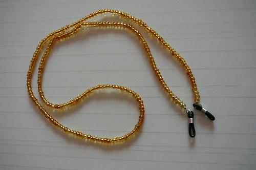 Šňůrka na brýle ze zlatého rokajlu