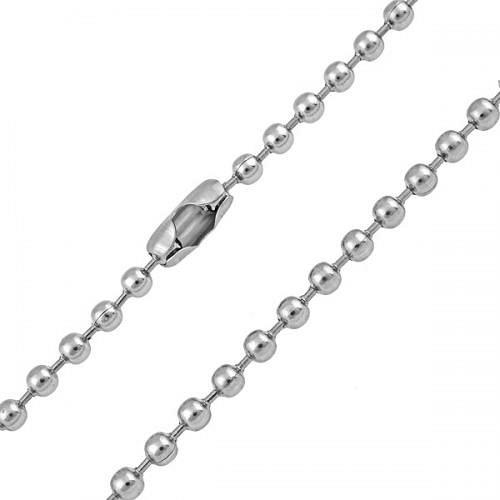 Kuličkový řetízek z chirurgické oceli - 47 cm