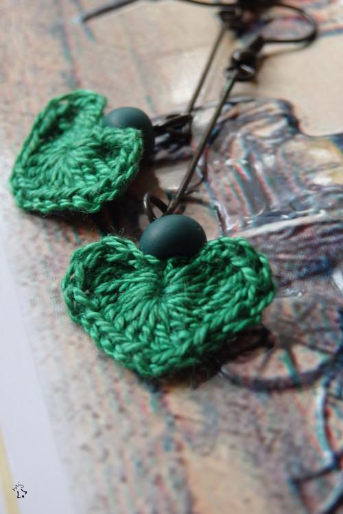 Zelená srdcata do oušek