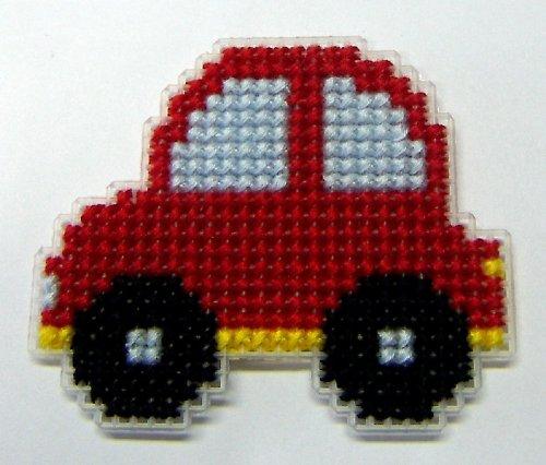 Vyšívaná magnetka - autíčko