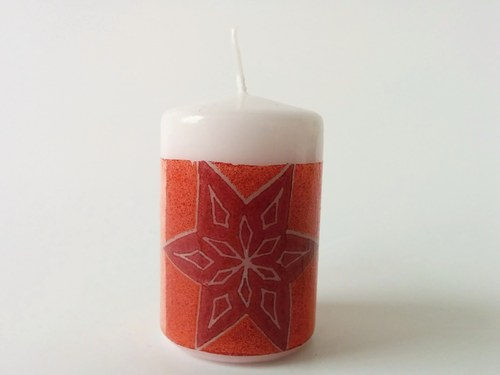 Vánoční svíčka bílá 1