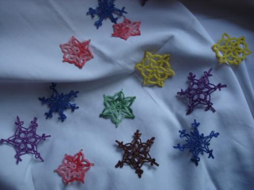 háčkovaná vánoční hvězda
