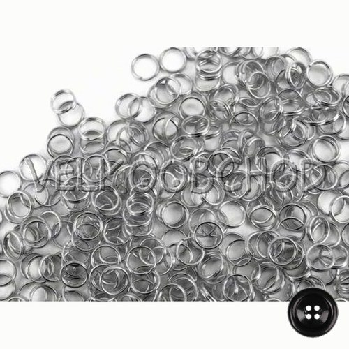 Dvojité kroužky pr.5 mm (50 ks) - platina