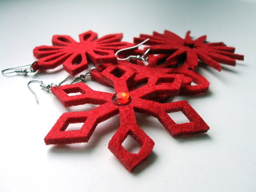 Vánoční naušnice