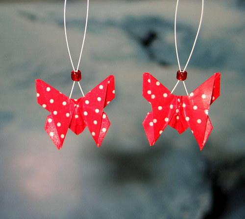 Jahůdkoví motýlci - náušnice