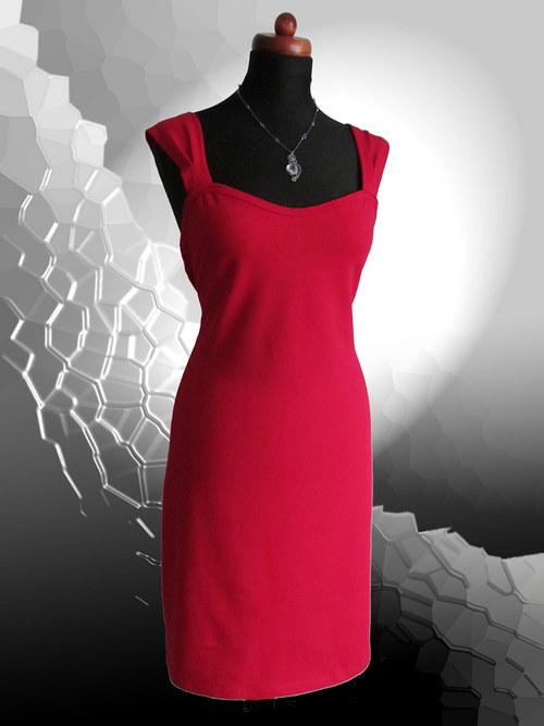 Šatová-sukně-černá,červená,hnědá