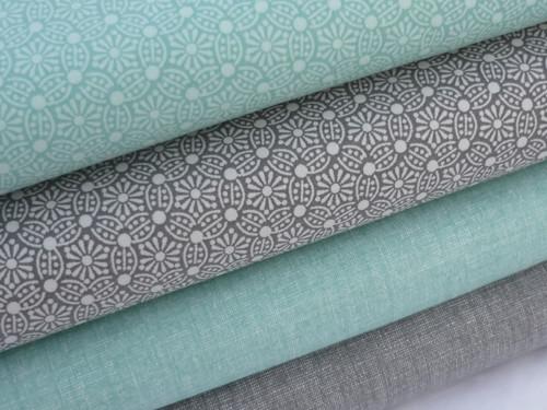 Plátno -   mandaly na šedé