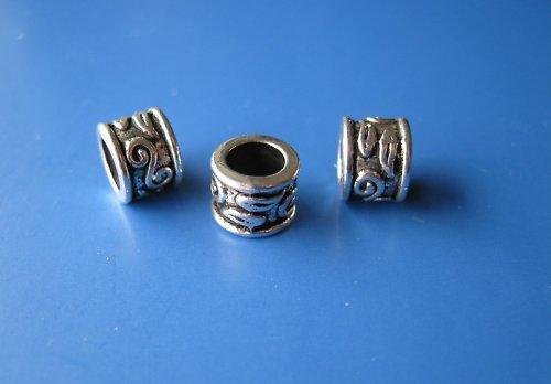 Kovový komponent kroužek s ornamenty, cena za 2ks