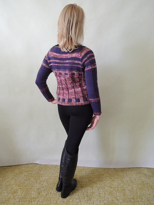fialový vlněný svetr