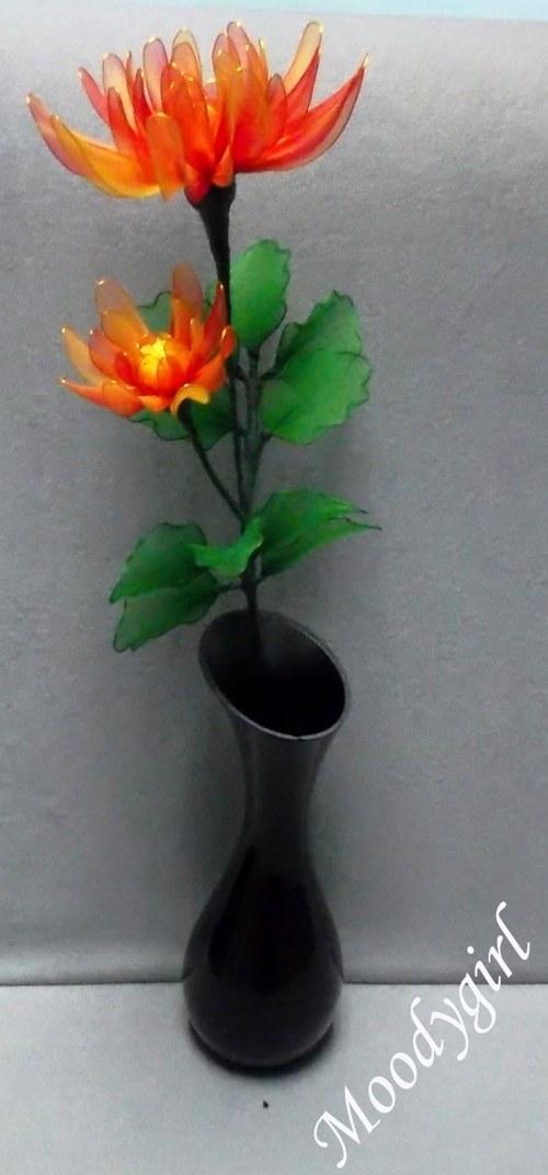 Nylonová květina - ASTRA s listy