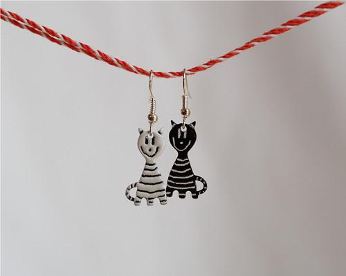 Náušnice - Kočičky malé