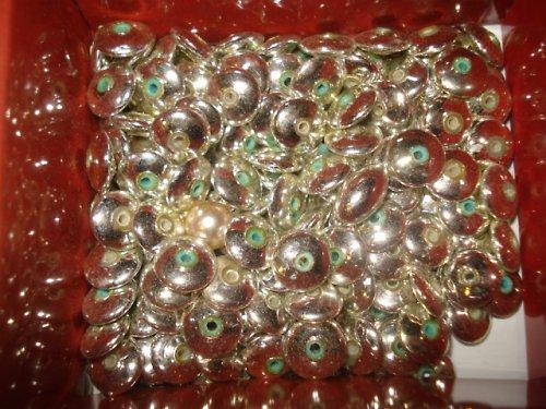 Lata perle-disk stříbrný