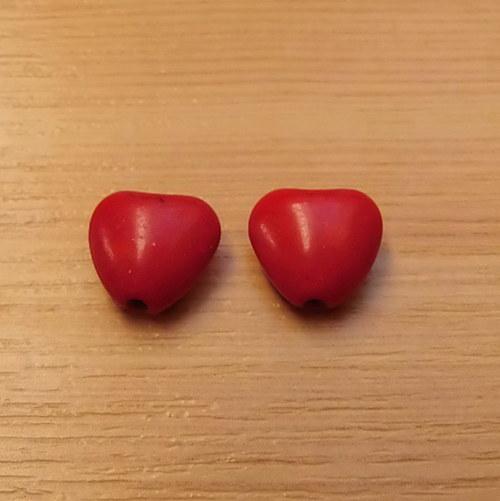 Tyrkenitová srdíčka - 2 kusy
