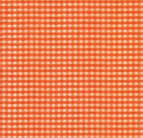 Ubrousek - čtverečky oranžové