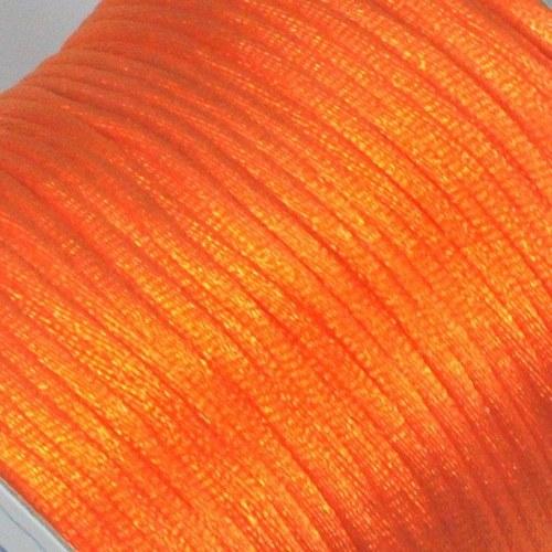 Saténová šňůrka 2 mm / oranžová