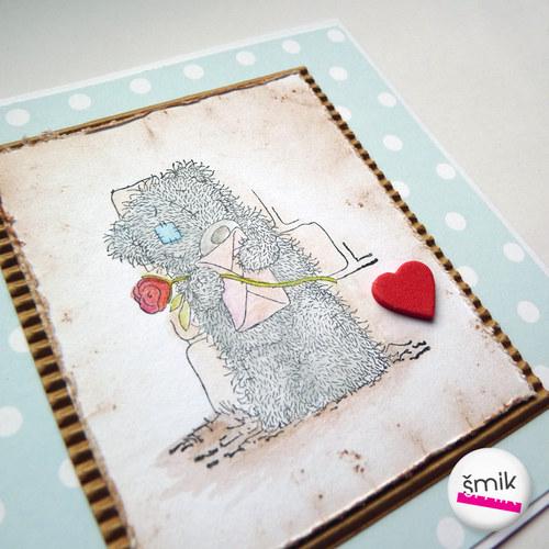 přání s medvídkem Me To You
