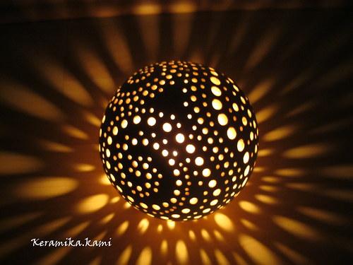 Mini svícen -  Světelná ulita 11cm