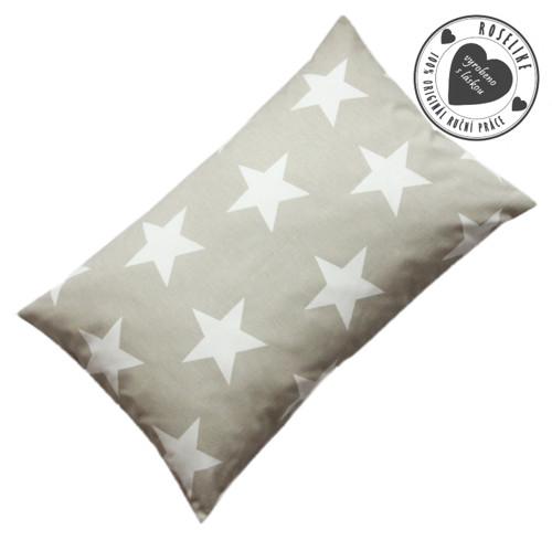 Povlak na polštář Béžový s velkými hvězdami 50x30