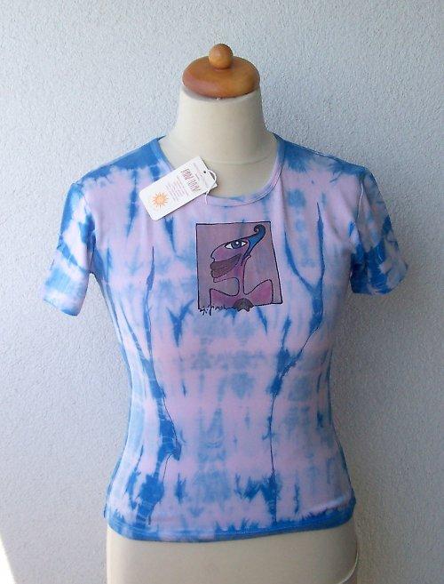 Batikované tričko s malbou