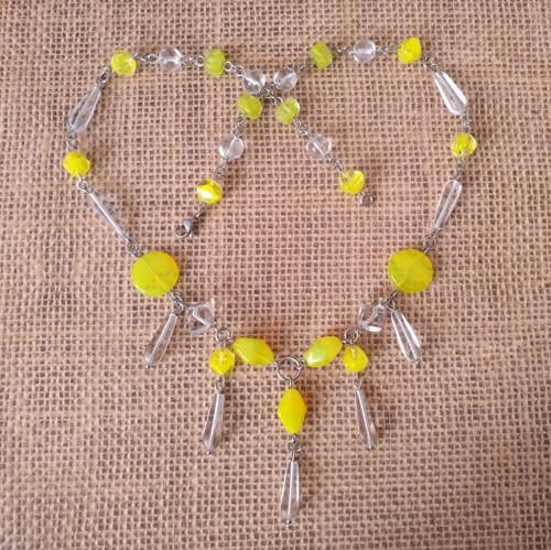 Žlutozelený náhrdelník