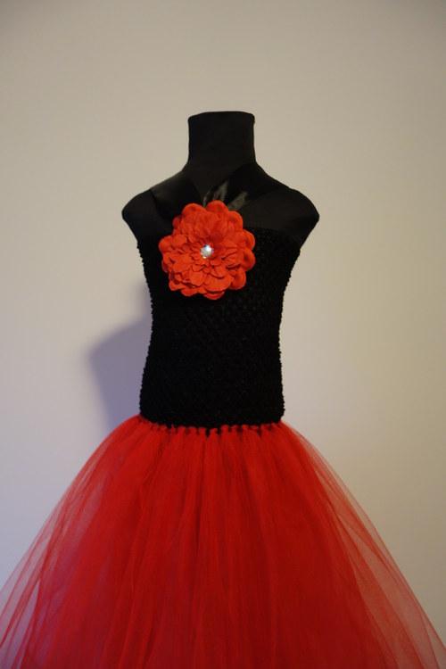 TUTU šaty, šatičky - černo-červená kombinace