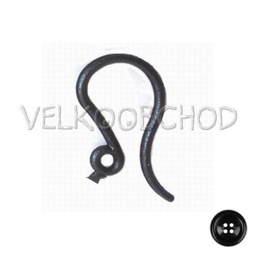 Afroháčky plast 12x10x1mm (500ks=250párů) - černá