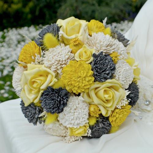 Svatební kytice  Dennie  a korsáž