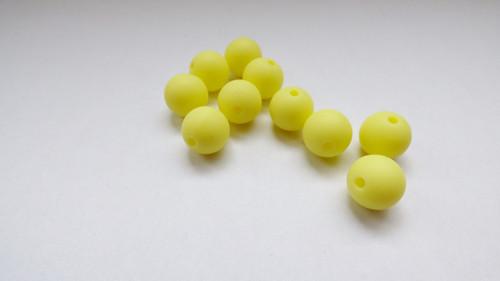 Silikonové korálky-žluté 10 ks**AKCE**
