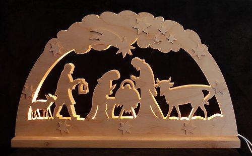 Světelný vánoční oblouk - Betlém III