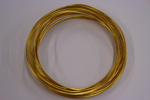 Hliníkový drátek 1,5mm zlatý - v návinu 6m