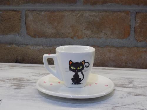 Ristretto šálka - Black cat